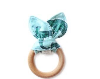 Teething Ring/ Baby Teething Ring/ Wooden Teether/ Wooden Teething Ring/ Baby Girl Teether/ Baby Boy Teether