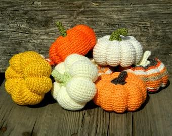 Halloween crochet stuffed|pumpkin gift|for|her toy 8pcs home farmhouse rustic primitive halloween|decor thanksgiving fall|decor wedding gift