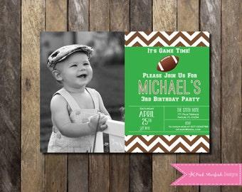 Football Birthday Invitation, Football Soccer Baseball Birthday Sports Invitaton. Football Invitation, Printable Invitation, Sports Invite