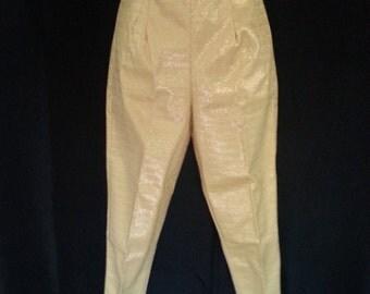 Vintage 1950s Gold Lurex High Waist Pants