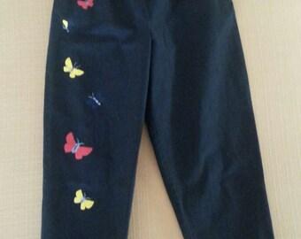 1950s Vintage Fligelman Hand Painted Crop Pants