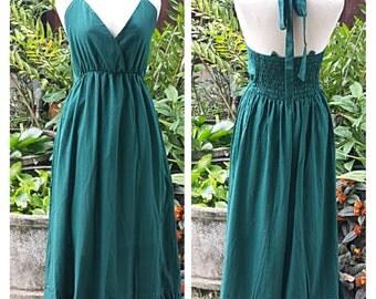 Pretty Dresses/ dresses green olives Maxi Halter Long Dress Maxi Dress Boho Dress Summer Beach Dress Plus Plus Size XS - 5XXL