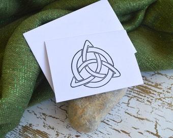 Handstamped Celtic Card Insert for Gifts