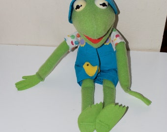 "Kermit the Frog Put Some Zing In Your Spring 1993 Muppets Stuffed Plush Animal 17"" Target"