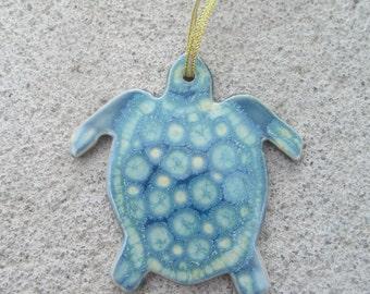 Handmade Pottery Ornaments Sea Turtle
