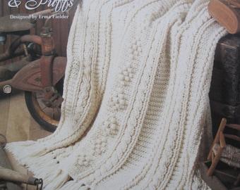 Crochet Pattern - Cables & Puffs - Vintage 1994
