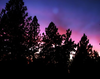 Moonset | Sunset in the Sierras | Last light of day | Fine Art Photography