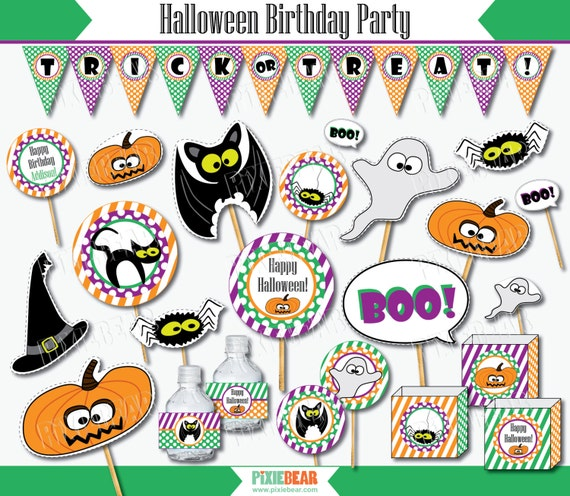 halloween birthday party halloween kids party halloween decorations halloween printable halloween party instant download from pixiebearparty on