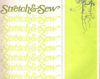 Children's TANK TOP, Stretch and Sew 863 Pattern, Sizes 2-12, Vintage 1974 Uncut