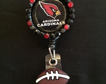 Arizona Cardinals Retractable I.D. Badge Holder, ID Badge Holder, Nurse Badge Reel, Name Badge Reel, Name Badge Holder, ID Badge Reel