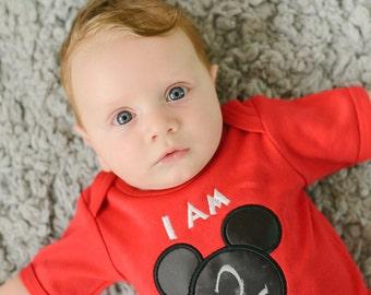Baby Monthly Mouse Ears Chalkboard Bodysuit