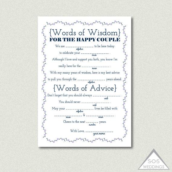 Stunning Wedding Words Of Advice Photos - Styles & Ideas 2018 ...