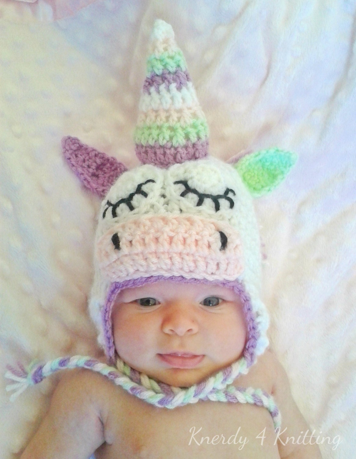 Crochet Unicorn Outfit : baby unicorn hat newborn photo prop unicorn costume crochet