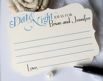 Date night ideas card, wedding game cards, shower game cards, advice cards, engagement cards, guest comment cards, guest book -30 count(ac7)