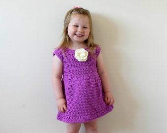 CROCHET DRESS PATTERN, Crochet pattern, Crochet Dress, Dress Pattern, Girls Dress Pattern, Girls Dress, Instant Download, Dress (Pdf66)