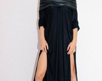 Black Long Dress /White Long dress/ Woman black dress / Black Oversize dress/ Casual black dress / Daywear dress