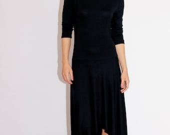 Black long dress/ Sexy dress/ white long dress/ asymmetric maxi dress/Sexy dress/ Evening dress/ casual dress