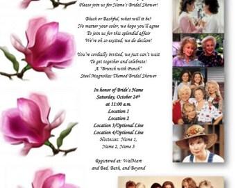 Steel Magnolias Bridal Shower Invitation