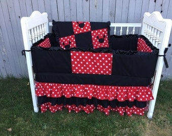 gallery for red minnie mouse nursery