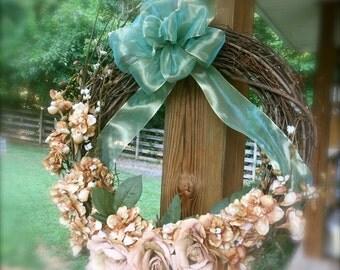 Rustic Fall Grapevine Wreath, 19 inch