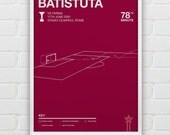 Gabriel Batistuta vs Parma Giclee Print