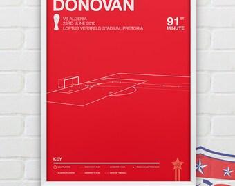 Landon Donovan vs Algeria Giclee Print -- [83]