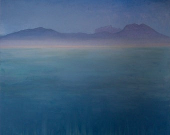 "Seascape (Cap Bon, Tunis) ~ Original Oil Painting ~ 122 cm x 122 cm x 3.5 xm ~ 48"" x 48"" x 1 1/2"""
