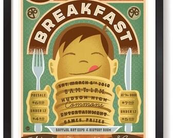 Hudson Pancake Breakfast print framed and unframed