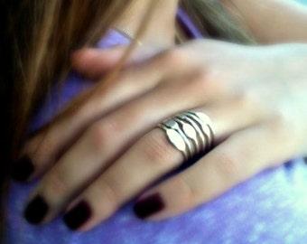 Set of rings. Thin rings. Stacking rings. Silver stacking rings. Set of  silver thin rings. Stack Ring Set. Mixed rings. Women silver rings