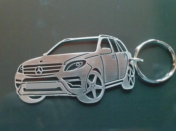 Mercedes ml 350 personalized key chain by guestfromthepast for Mercedes benz tire chains