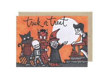 Trick or Treat - Halloween Card Blank Inside