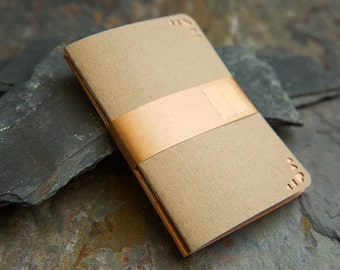 Mini Manila Kraft Copper Notebooks sets. A7 small Journal, sketchbook, blank notebook. Holiday pocket notepands. Soft cover printed books
