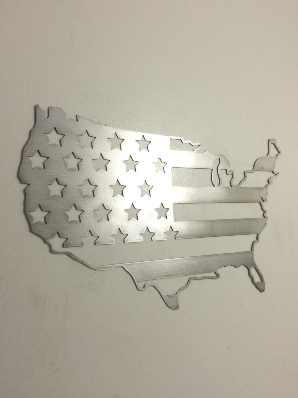 Steel Wall Art united states of america outline flag steel metal wall art