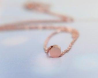 Floating dot necklace, rose gold circle necklace, minimal layered necklace, layering necklace, floating dot necklace, rose gold dot necklace