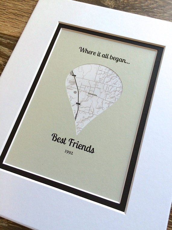 Where it all began gift for best friends long distance for A perfect gift for a friend
