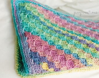 Jewel Toned Square Baby Blanket - Made to Order