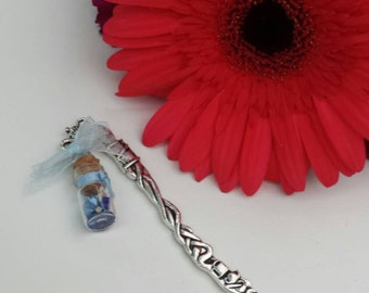 Light Blue Bottle Bookmark