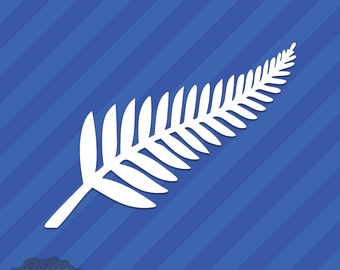 New Zealand Silver Fern Vinyl Decal Sticker Kiwi