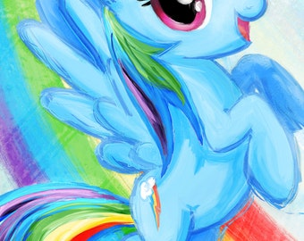 Rainbow Dash - My Little Pony Friendship is Magic Art Print Poster