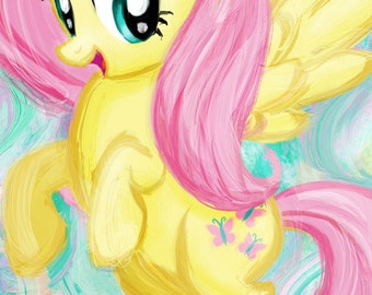 Fluttershy - My Little Pony Friendship is Magic Art Print Poster