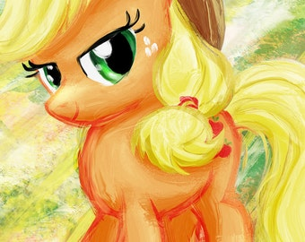 Applejack - My Little Pony Friendship is Magic Art Print Poster