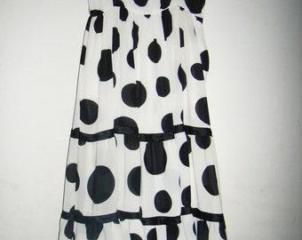 Vintage- polka dress- Louis Feraud 80s
