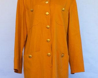 Vintage Valentino Miss V Mustard Dress EU/48 US/14
