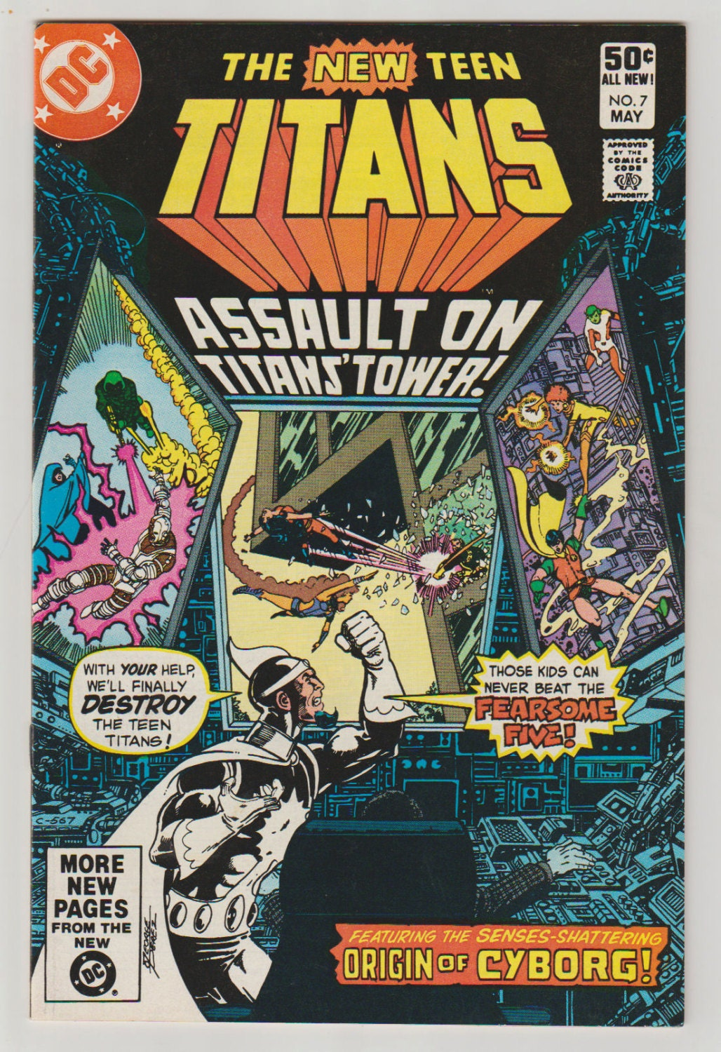 New Teen Titans Vol 1 7 Bronze Age Comic Book Nm May-8980