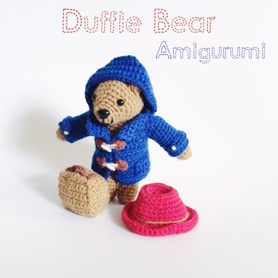 Amigurumi Paddington Bear : Duffle Bear Amigurumi Crochet Pattern PDF