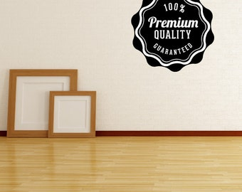 100% Premium Quality Guaranteed Business Badge Wall Decal - Vinyl Decal - Car Decal - Id041