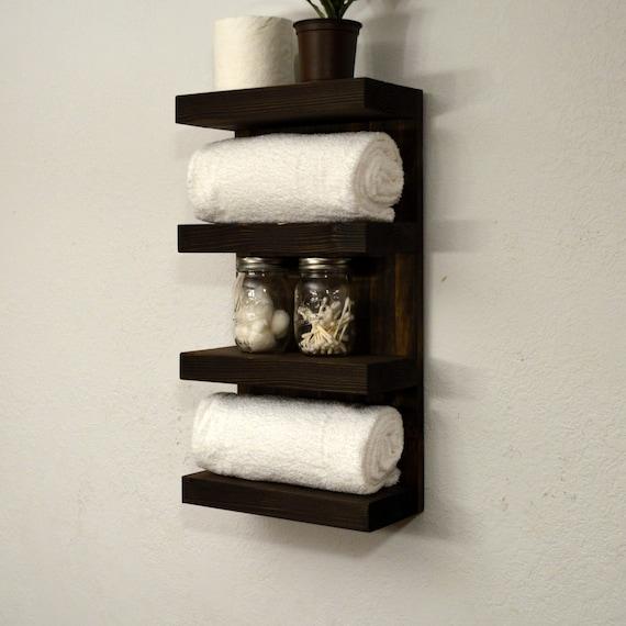 bathroom towel rack 4 tier bath storage by rusticmoderndecor. Black Bedroom Furniture Sets. Home Design Ideas