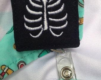 X-Ray retractable badge reel, x-ray felt badge reel, x-ray retractable badge reel, x-ray badge reel,  doctor badge reel, nurse badge reel