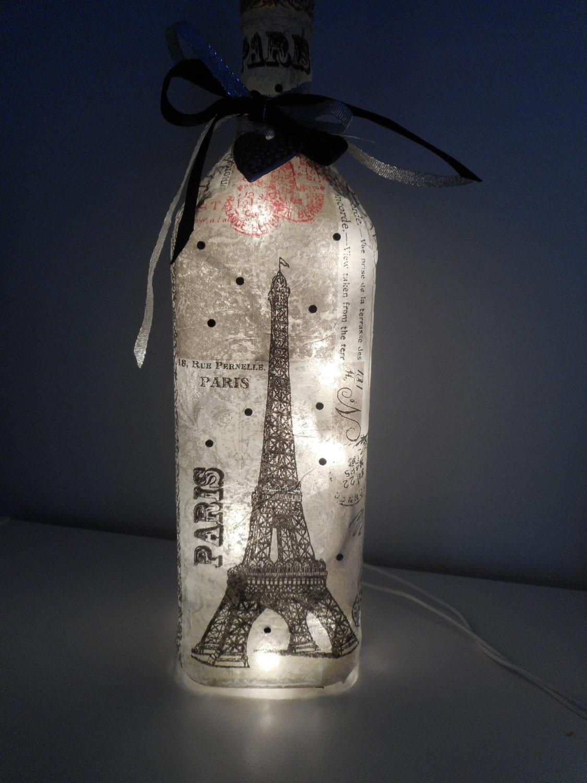 Paris Wine Bottle Lamp French Decor Paris Gifts Wine