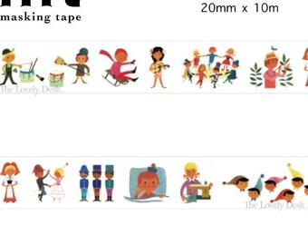 MT Alain Grée Human People Washi Tape Japan Artist Masking Tape - Daily Life Children Happy Japanese
